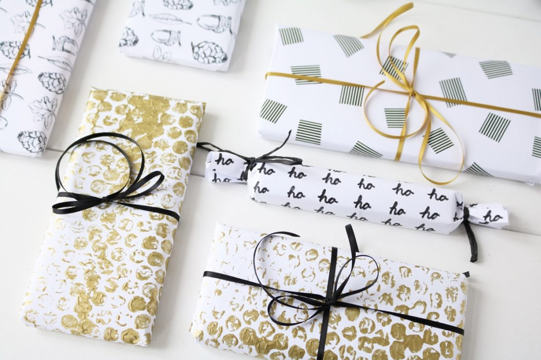 geschenkpapier selber machen. Black Bedroom Furniture Sets. Home Design Ideas