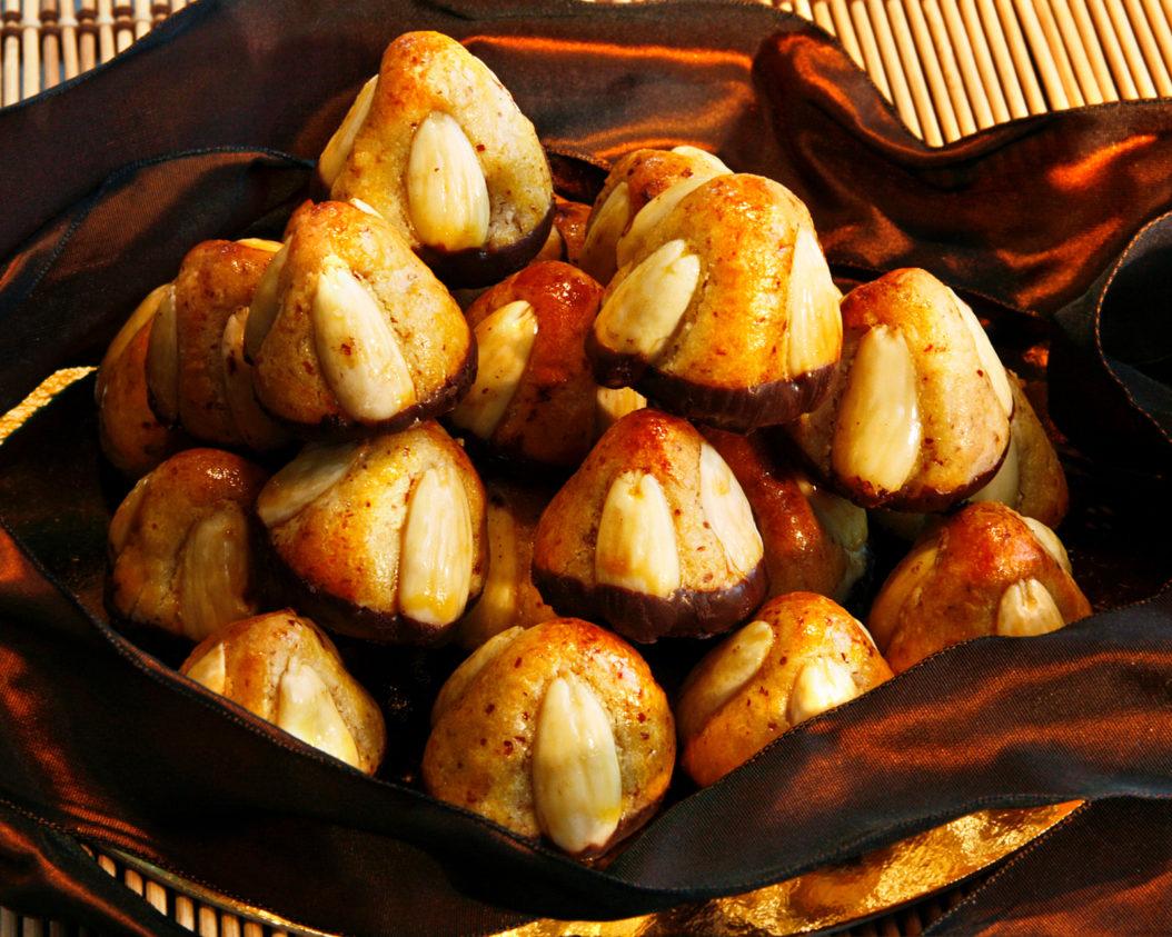 Traditionelles Weihnachtsgebäck.Bethmännchen Rezept
